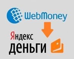 Существующие методы перевода денег с системы Вебмани на Яндекс.Деньги