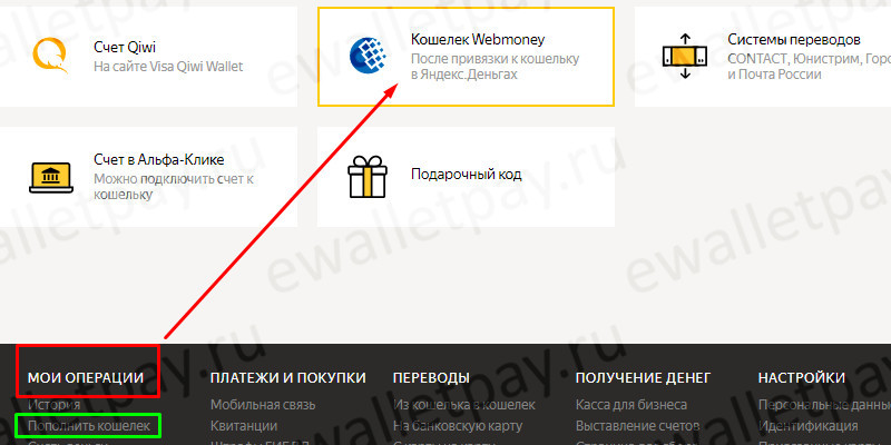 Перечисление с Вебмани на Яндекс через систему Яндекс.Деньги