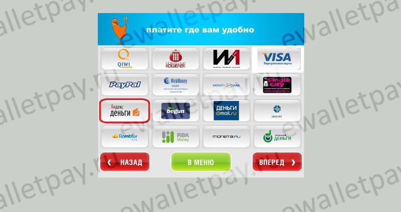 Пополнение электронного кошелька Яндекс через терминалы и банкоматы