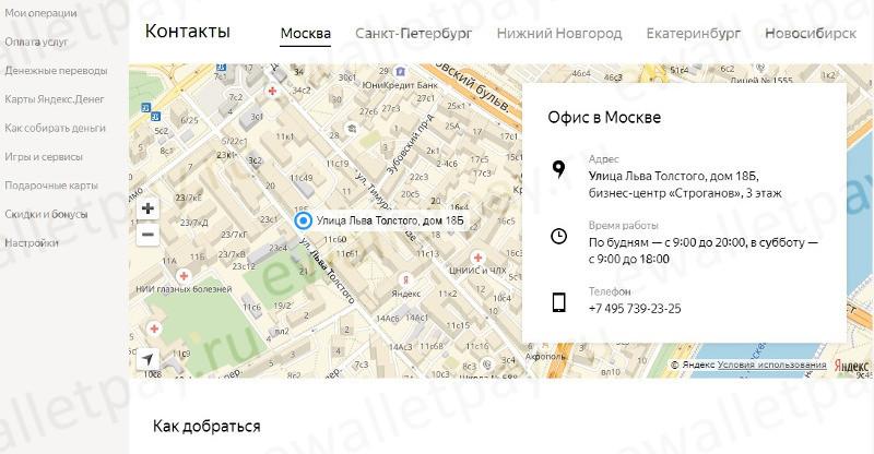 Форма карты в Яндекс.Деньги